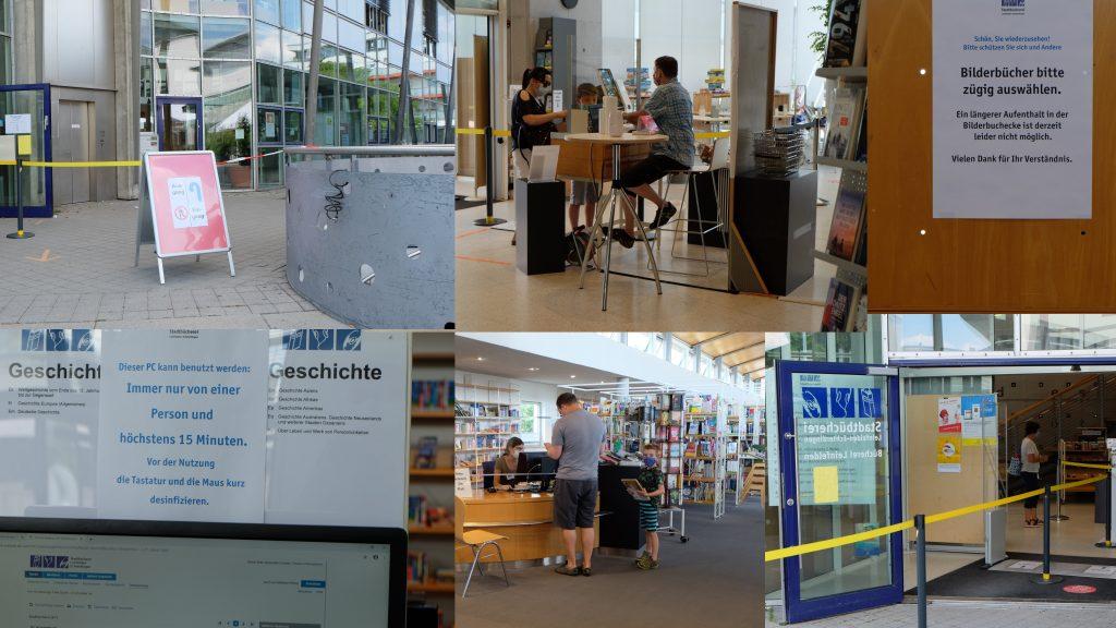 Besuch der Bücherei Leinfelden unter Corona-Bedingungen. Fotos: U. Janssen